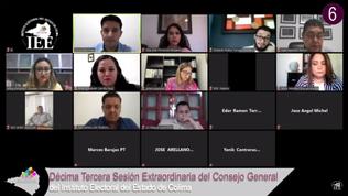 Aprueba IEE Colima plataformas electorales de los partidos políticos y medidas sanitarias ante Covid