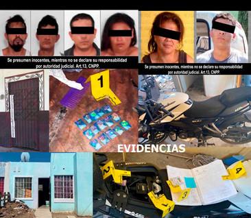 En cateos en en Villa de Álvarez y Cuauhtémoc detienen a seis, asegura inmuebles, vehículo y droga