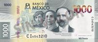 Banco de México presenta el Nuevo Billete de 1,000 pesos