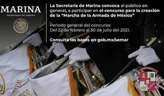 """Convoca SEMAR al concurso para la creación de la """"Marcha de la Armada de México"""""""
