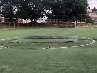 Inicia renovación de cancha de fútbol 7 de la colonia El Llano de VdeÁ