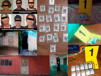 En cateos, detienen a 6 personas y decomisan droga  en Tecomán, Cuauhtémoc y Manzanillo