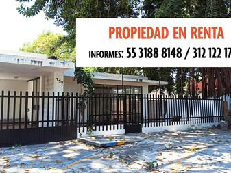 Propiedad en Renta, Calzada Galván Sur, Colima, Col.