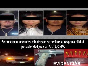 En Coquimatlán, detienen a cuatro personas con arma de fuego y cartuchos