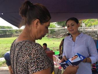 Pide Vianey Chapula a vecinos del Distrito 7 su voto y confianza este 1 de julio