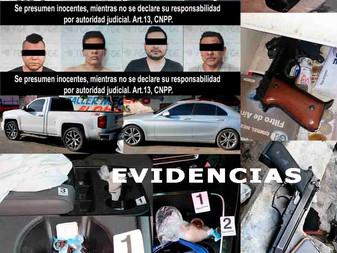 En Tecomán, detienen a ocho personas y aseguran armas y droga