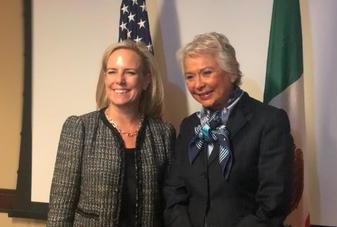 Olga Sánchez se reúne con la Secretaria de Seguridad Nacional de Estados Unidos, Kirstjen Nielsen