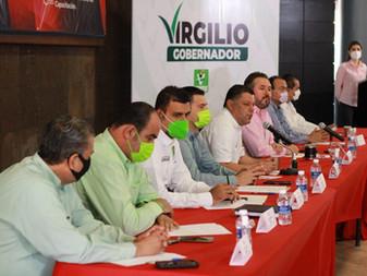 Se compromete Virgilio a ser un férreo defensor de los empresarios de la construcción de Colima