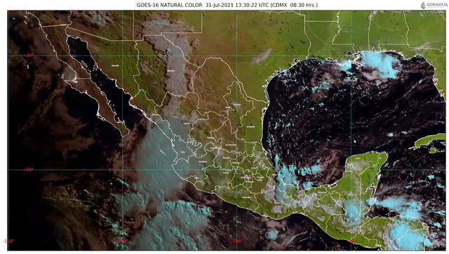 Para hoy, se pronostican lluvias en Jalisco y Nayarit, Colima y Michoacán