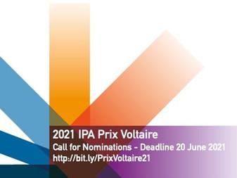 La IPA entregará el Premio Voltaire 2021 en la FIL Guadalajara