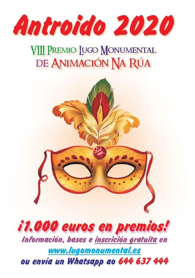 Lugo Monumental repartirá 1.000 euros en premios á mellor animación de rúa no Antroido