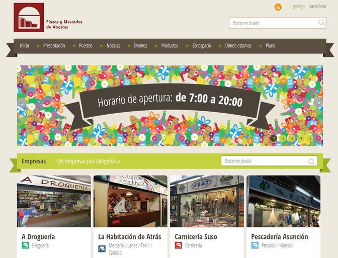 Lugo Monumental denuncia el desfase de la web oficial de la Plaza de Abastos, cuya información no se