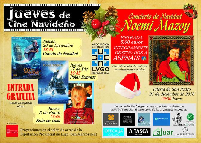 Lugo Monumental presenta su campaña navideña con cine, un concierto benéfico y un concurso