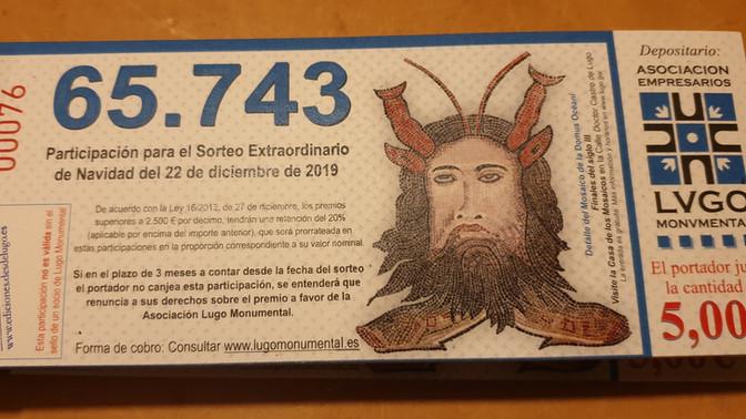 Lugo Monumental promociona la Casa de los Mosaicos en su lotería de Navidad