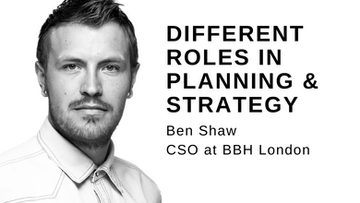 Different roles in Planning and Strategy