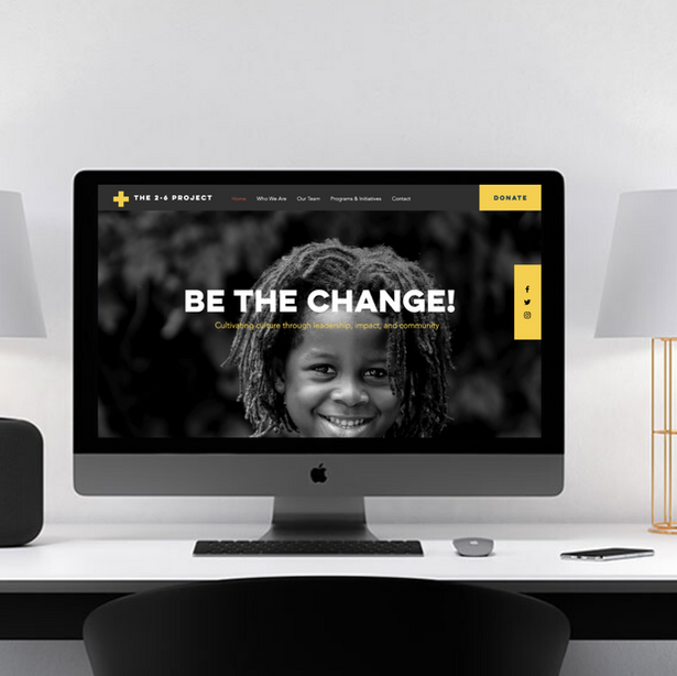 The Two Six Project Website Design