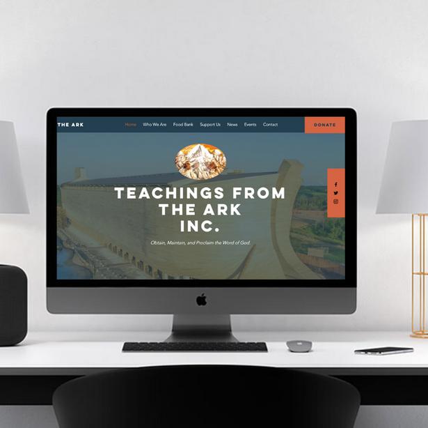 Teachings From The Ark Website Design