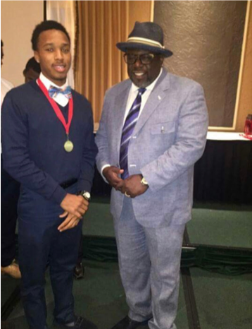 Warren Hawkins with Cedric the Entertainer.