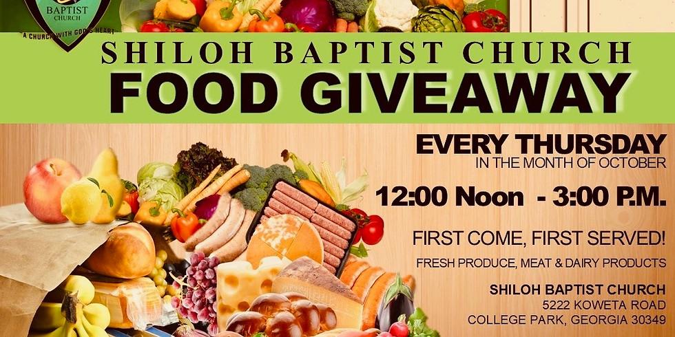 Shiloh Food Giveaway