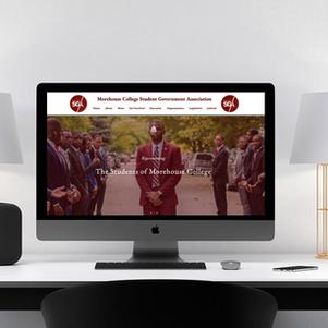 Morehouse Student Government Website Design