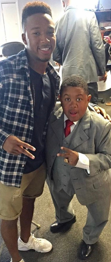 Warren Hawkins with Emmanuel Lewis