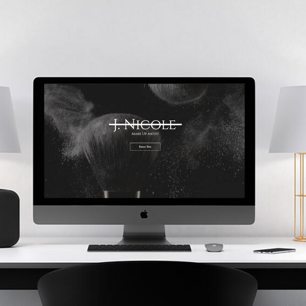 J. Nicole Makeup Website Design