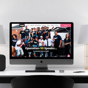 Operation 50 Speaks Website Design