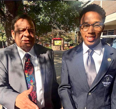 Warren Hawkins with Ambassador Andrew Young