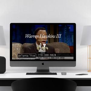 Warren Hawkins Website Design