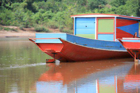 Laos colourful boat