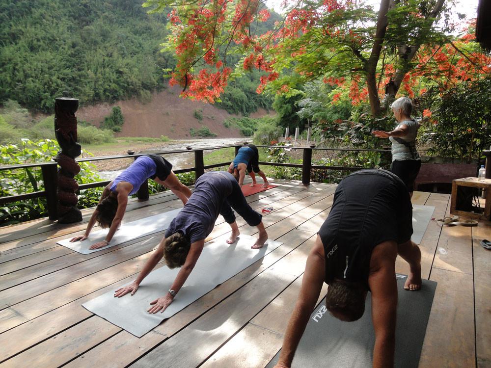 river bank yoga