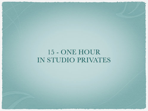 15 - One Hour In Studio Privates