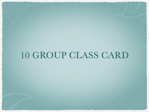 10 Group Class Card