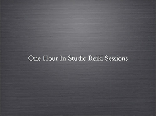 1Hour In Studio Reiki Session