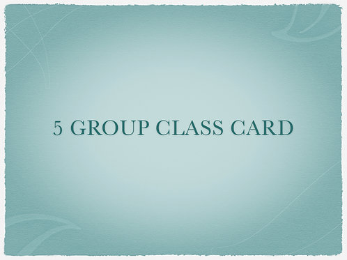 5 Group Class Card