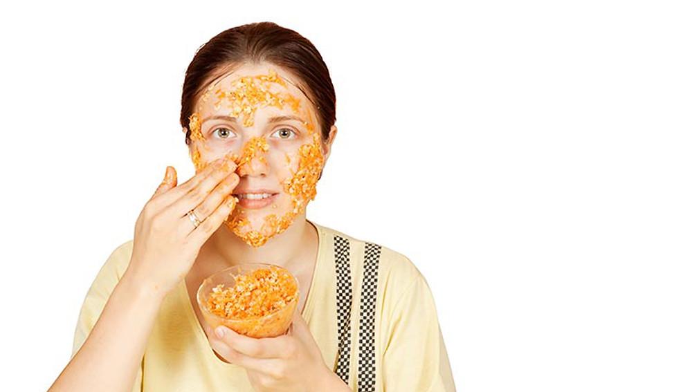 Защитная маска из моркови