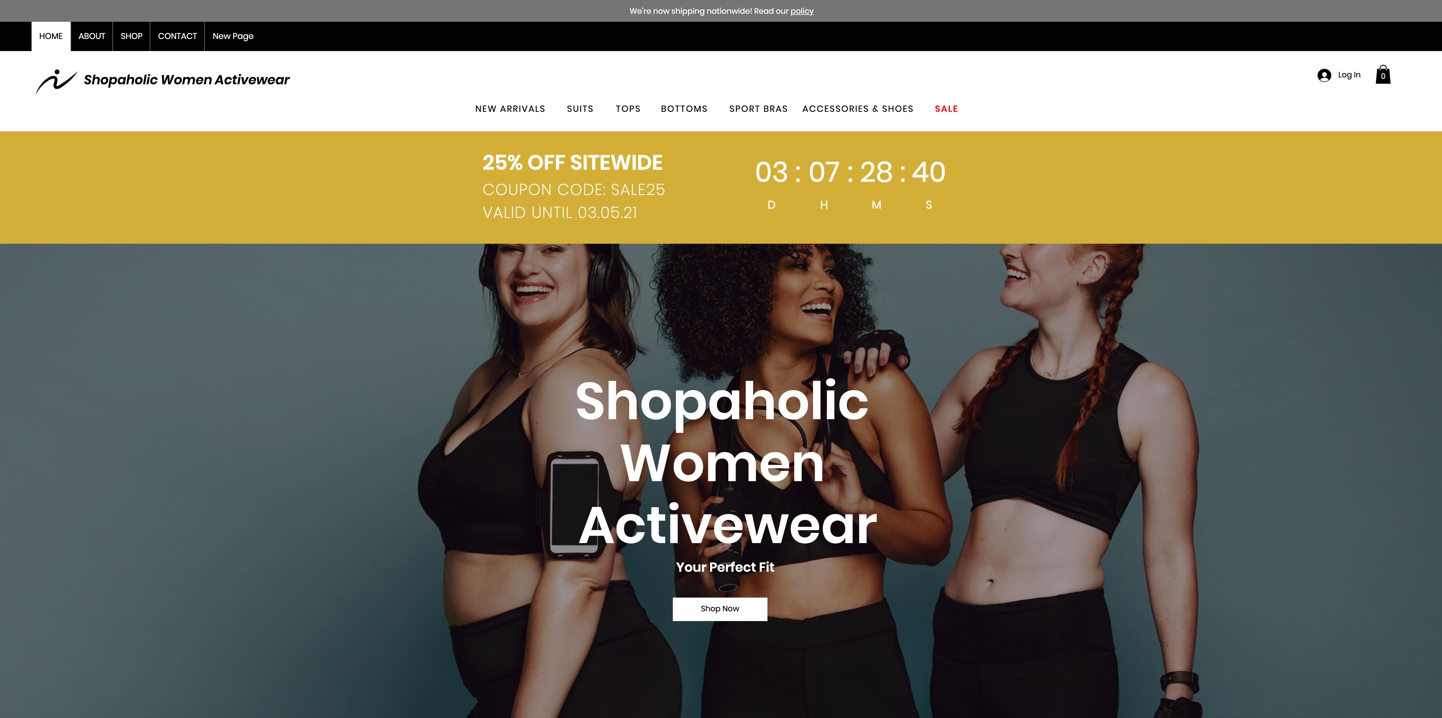 Shopaholic Women Activewear