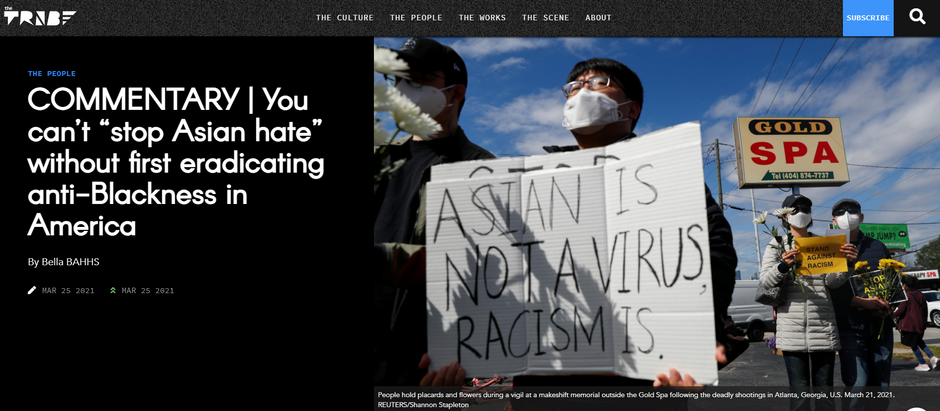 """COMMENTARY   You can't """"stop Asian hate"""" without first eradicating anti-Blackness in America"""