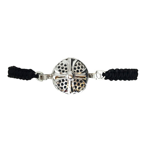 Honeycomb Cross White Gold Diffuser Bracelet