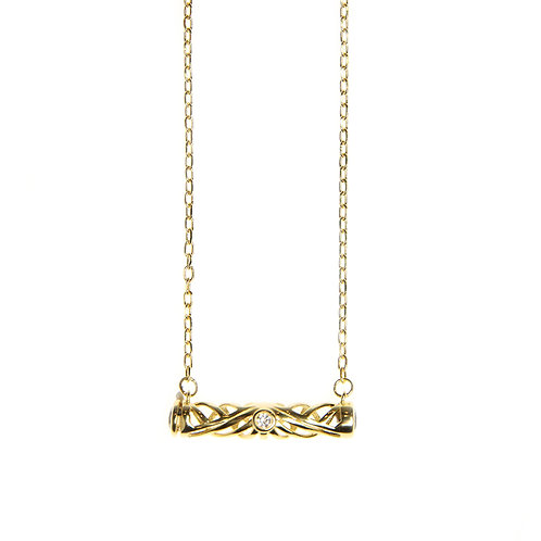 Infinity Bar Diffuser Necklace