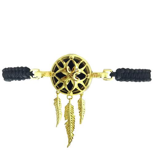 Dreamcatcher Gold Diffuser Bracelet
