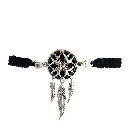 Dreamcatcher White Gold Diffuser Bracelet