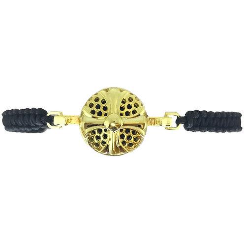 Honeycomb Cross Gold Diffuser Bracelet
