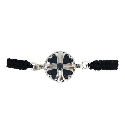 Cross-heart White Gold Diffuser Bracelet
