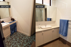 Vanity before & after