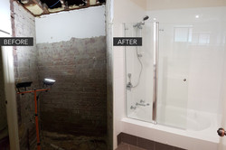 Shower before & after