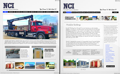 Norwalk Concrete Industries Website