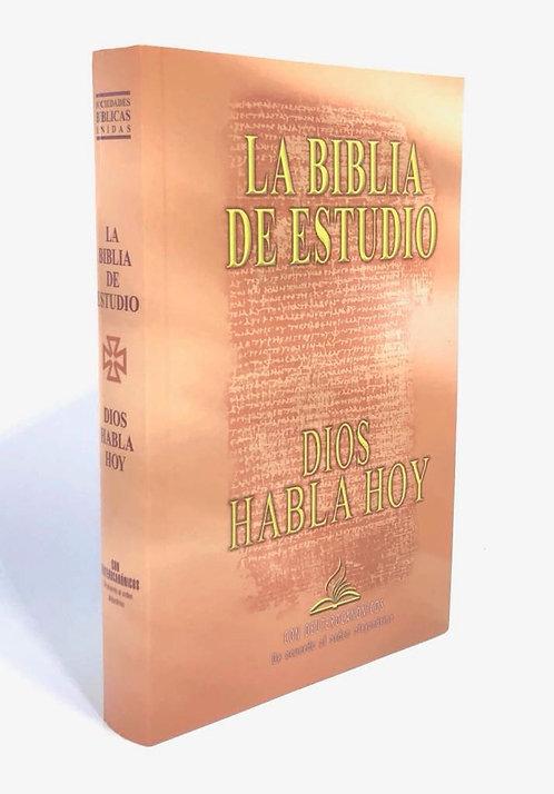 BIBLIA DIOS HABLA HOY DE ESTUDIO, LETRA GRANDE, RUSTICA, TAPA FLEXIBLE