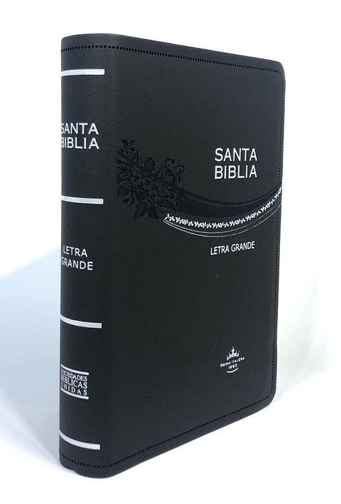 REINA VALERA 1960, LETRA GRANDE, CURPIEL GRIS Y CANTO PLATEADO