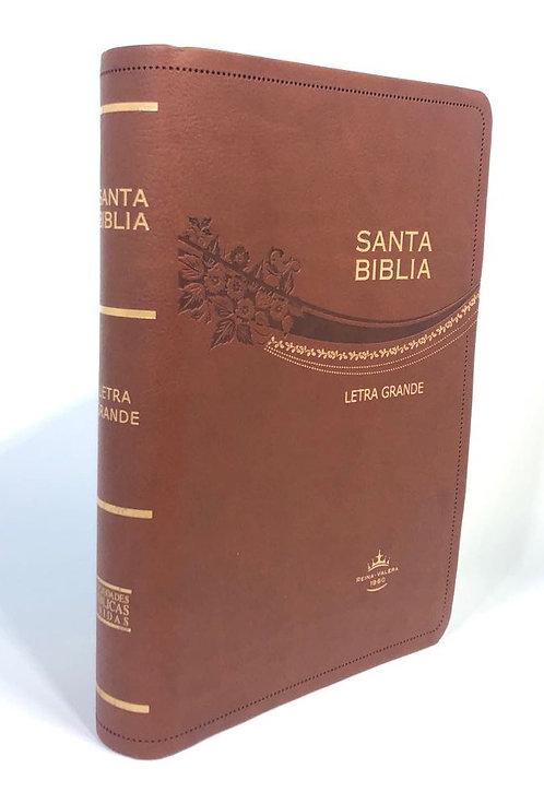REINA VALERA 1960, LETRA GRANDE, CURPIEL CAFE Y CANTO DORADO